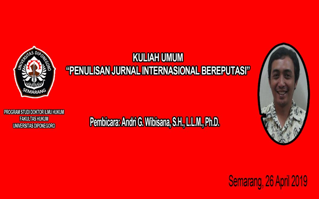 Penulisan Jurnal Internasional Bereputasi